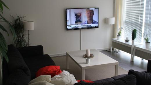 Fladskærms-tv på alle værelserne i Munkerup
