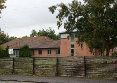 Bygning 3 i Kongens Ø Munkerup set fra Munkerup Strandvej.